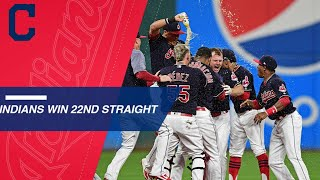 Indians rally to win 22nd straight