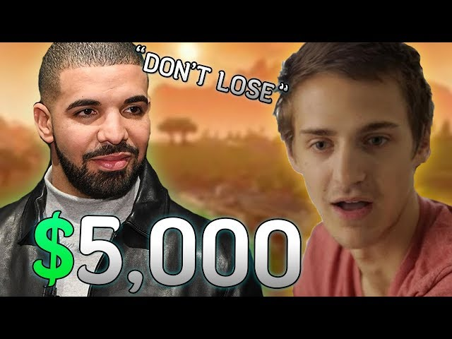 Drake Bets Ninja $5,000 He Wont Clutch The Win... Then This Happened!
