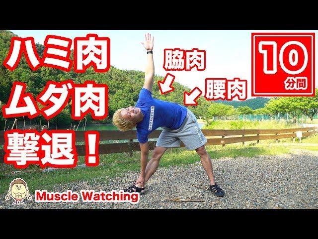 【10分】脇+腰のハミ肉・ムダ肉を削ぎ落とす必殺ストレッチ! | Muscle Watching