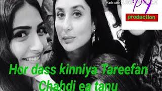Whatsapp status video. Tareefan song lyrics. Veere di wedding song. Kareena kapoor new song.