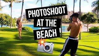 Hawaii Vlog Day 3: Photoshoot At the Beach!    FarinaVlogs