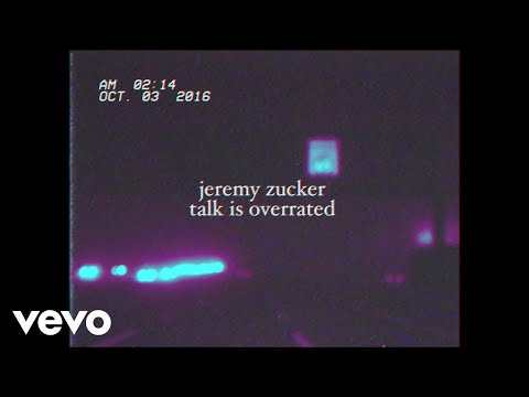 Jeremy Zucker - Talk Is Overrated (Lyric Video) ft. blackbear