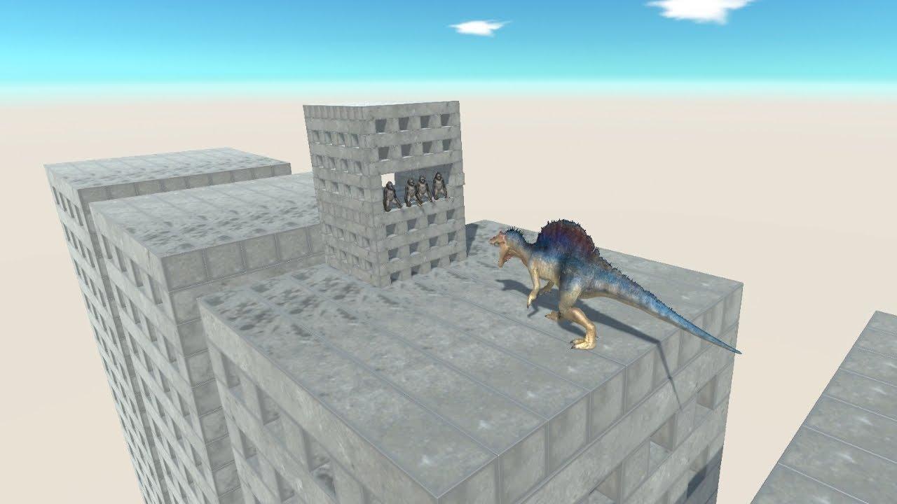 Ape Wobbly Building on Wobbly Building vs ALL UNITS Animal Revolt Battle Simulator