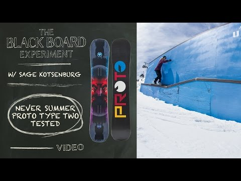 The Blackboard Experiment: Snowboard Review with Sage Kotsenburg - 2017 Never Summer Proto Type Two