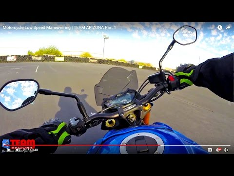 Motorcycle Low Speed Maneuvering | Slow Speed Motorcycle Control TEAM ARIZONA   Part 1