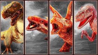 4 Dinosaur Fighters: Tyrannosaurus Rex, Ankylosaurus, Triceratops &...