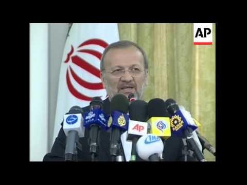 Presser by Foreign Minister Manoucher Mottaki