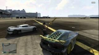 GTA5 online  Moteur Formule 1 et Minigun