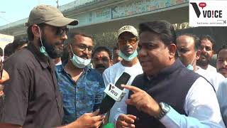 #AirPollution MLA Rais Shaikh  Distributed Pollution Mask with The Voice News by Firoz Memon