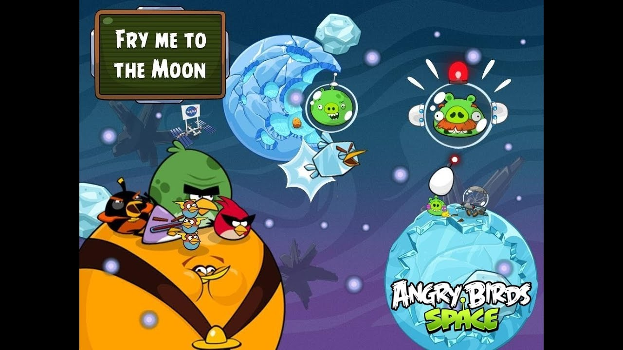 Angry Birds Space new planet - \'\'Fry me to the Moon\'\' PC gameplay ...