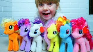 Ulya and My little pony toys