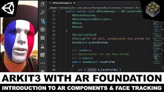 Unity3d AR Vakfı ile 3 ARKit ve Gerçek Oluşturmak için zaman Yüzü Mesh Takip Yüz