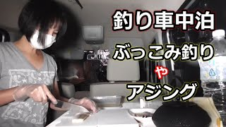 釣りと車中泊・記録更新の根魚が釣れました!車中で捌いて食べる!