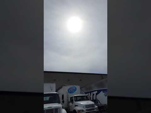 Sun halo Sept 12 2016 Omaha Nebraska