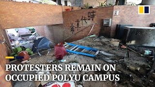 Protesters refuse to leave PolyU campus after almost two weeks