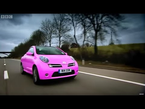 pink nissan micra convertible top gear bbc youtube. Black Bedroom Furniture Sets. Home Design Ideas