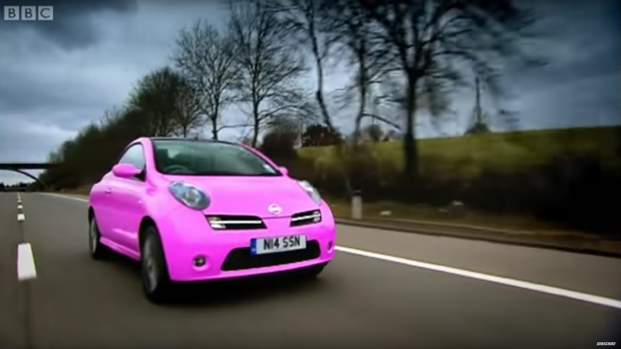 richard hammond drives a pink nissan micra convertible. Black Bedroom Furniture Sets. Home Design Ideas