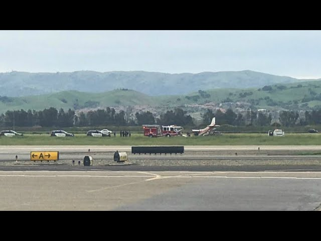 RAW: Chopper 5 Video Of Scene Of Small Plane Accident At Livermore Airport