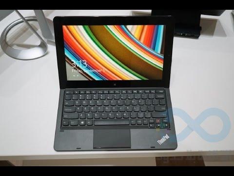 نظرة على الحاسب المتحول Lenovo ThinkPad Helix من دون مروحة مع الأكسسوارات