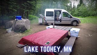 Free Car Camping iฑ the Superior National Forest at Lake Toohey in Minnesota