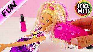 Barbies neues STYLING | Haare frisieren mit Wellen | Crimp & Curl Barbie | Kinderspielzeug