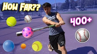HOW FAR CAN I HIT THESE RANDOM BALLS?? (College Player)