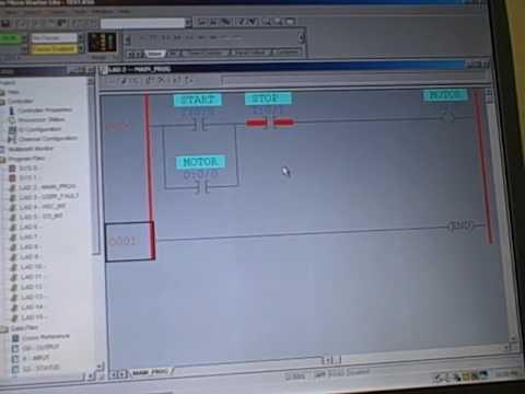 Plc Programming Motor Startstop Function Using Seal In Contact