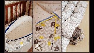 Что я сшила для малыша: кокон, конверт, одеяло с помпонами и т.д.