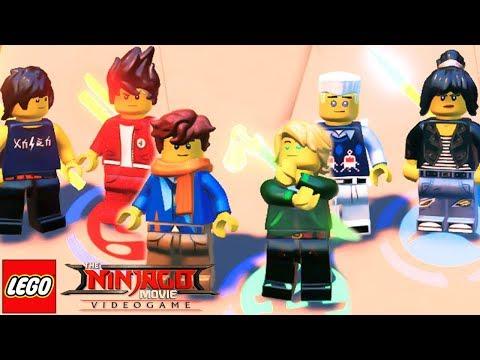 TODOS OS NINJAS ADOLESCENTES em The LEGO NINJAGO Movie Video Game