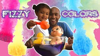 BEST LEARNING COLORS for Kids Children Toddlers Video! Fizzy Tub Colors Surprise Toys