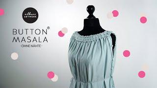 Tutorial DIY Kleid Button Masala - ohne Nähte Teaser
