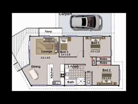 3 bedroom house plans. Small 3 Bedroom Bungalow House Plans  2 Bath