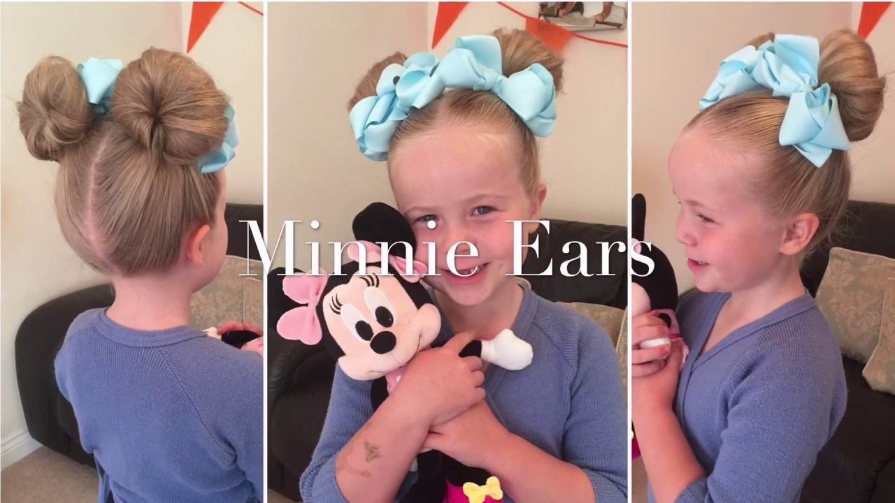 how to: minnie mouse hair do tutorial by two little girls