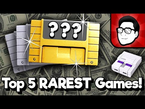 Top 5 RAREST SNES Games! | Nintendrew