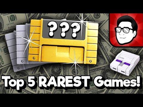 Top 5 RAREST SNES Games! | Nintendrew