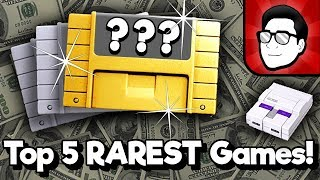 Top 5 RAREST SΝES Games! | Nintendrew