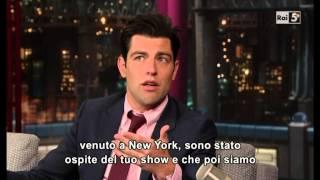 Max Greenfield @ David Letterman Show 06/01/14 SUB ITA