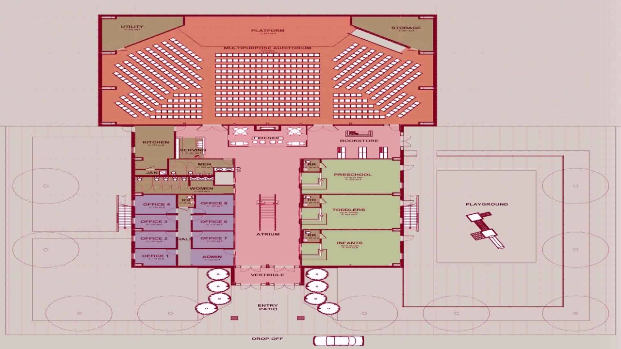 Church Floor Plan Requirements See Description Youtube