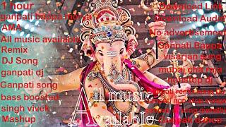 Nonstop Ganpati Dj Remixes Latest Song 2020 (Ganpati Bappa Morya) includes multiple dj remixes|AMA|