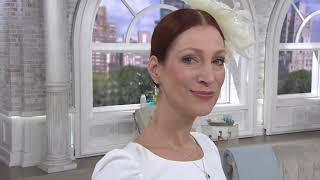 Diamonique Royal Collection Butterfly Stud Earrings on QVC