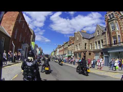 Clyde valley HOG ride in to Dunbar harbour 8/7/17
