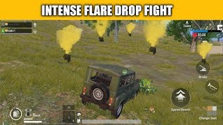 ( HINDI ) INTENSE FLARE DROP FIGHT PUBG MOBILE ! FUNNY GIRL VS ME FUNNY GAMEPLAY PUBG MOBILE