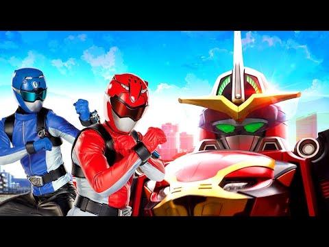 Сериал онлайн – Могучие Рейнджеры. Звероморферы: Битва Гигантских Роботов! – Видео с супергероями