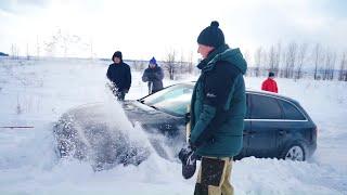 Как Рвутся Тросы! Audi A4  И Audi A6 В Снежном Плену. Оффроад