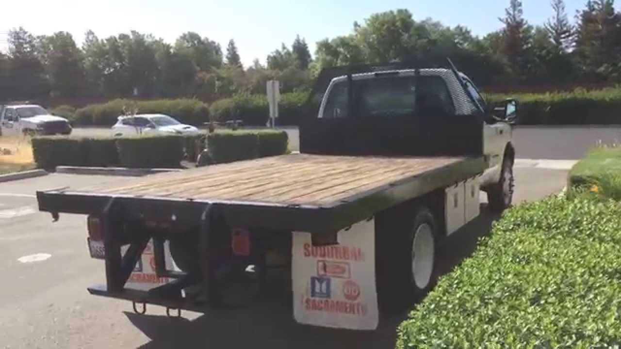 """Ford 7.3 Diesel For Sale >> FOR SALE!!! 2000 Ford F450 7.3 Diesel Truck 12"""" Flat Bed Livermorre ca. - YouTube"""