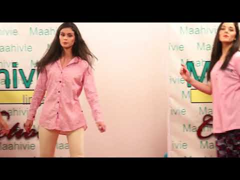 Maahivie lingerie fashion show hyderabad