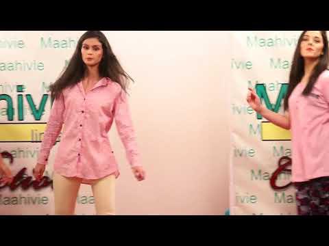 Maahivie lingerie fashion show hyderabad