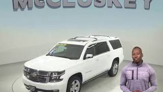 172138 New 2017 Chevrolet Suburban Premier 4WD SUV White Test Drive, Review, For Sale -
