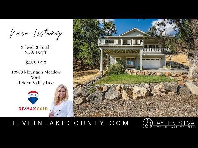 Lake County, California Home For Sale Hidden Valley Lake, California