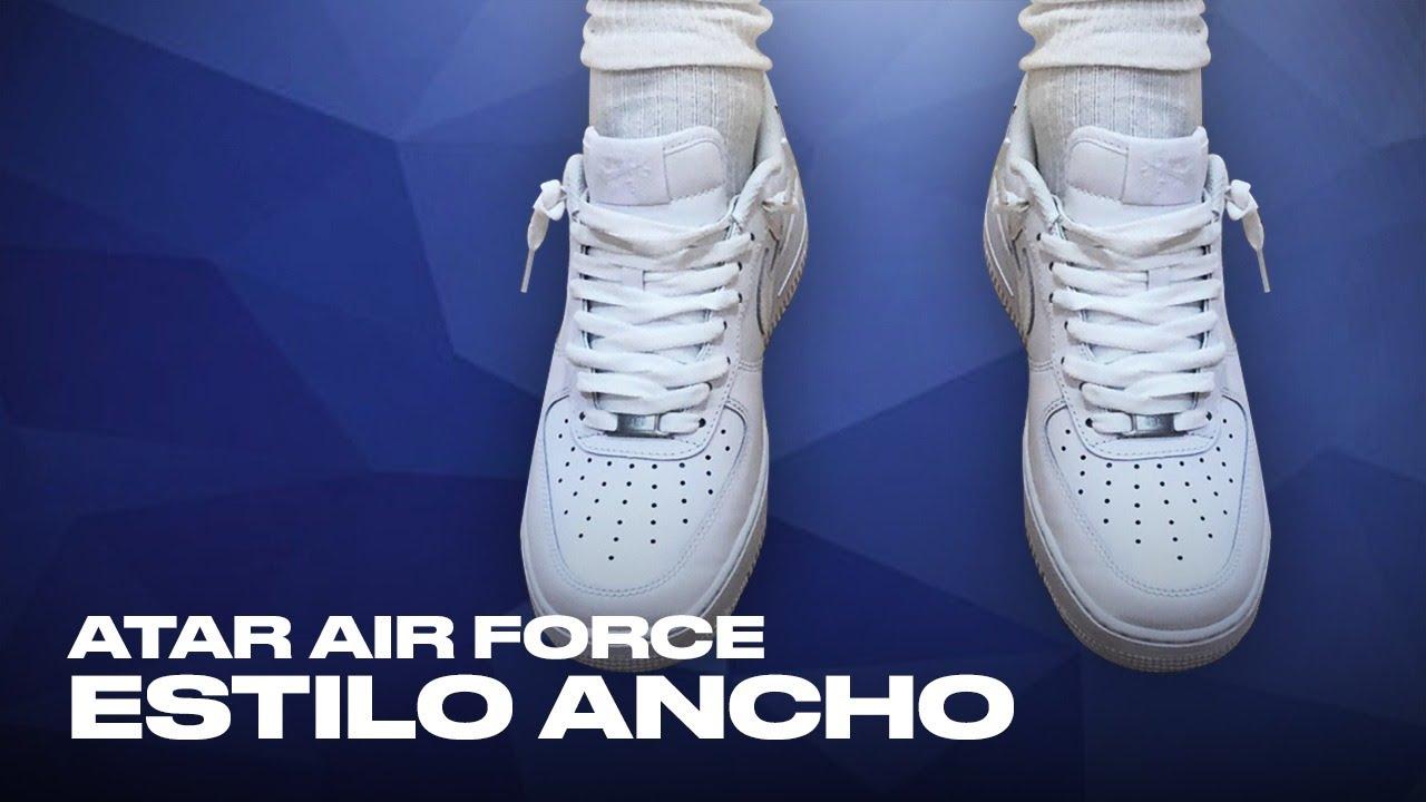 agujetas air force 1